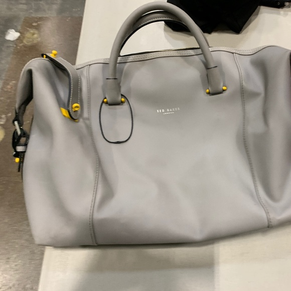 Ted Baker Grey Rubber Duffle - Brand New!